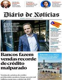 capa Diário de Notícias de 1 outubro 2018