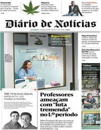 capa Diário de Notícias de 2 setembro 2018