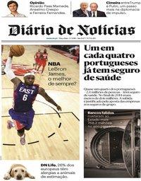 capa Diário de Notícias de 3 julho 2018
