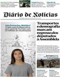 capa Diário de Notícias de 3 setembro 2018