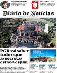 capa Diário de Notícias de 4 setembro 2018