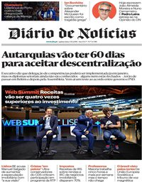 capa Diário de Notícias de 4 outubro 2018