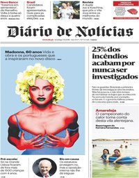 capa Diário de Notícias de 5 agosto 2018
