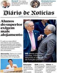 capa Diário de Notícias de 5 setembro 2018