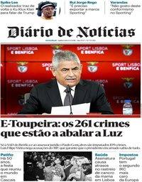 capa Diário de Notícias de 6 setembro 2018