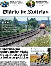 capa Diário de Notícias de 7 julho 2018