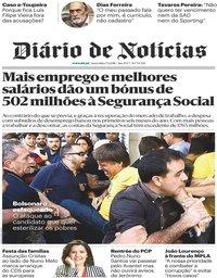 capa Diário de Notícias de 7 setembro 2018