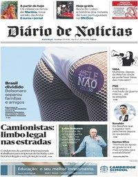 capa Diário de Notícias de 7 outubro 2018