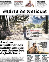 capa Diário de Notícias de 8 agosto 2018