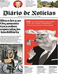 capa Diário de Notícias de 9 setembro 2018