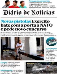 capa Diário de Notícias de 10 agosto 2018