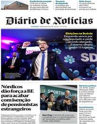 capa Diário de Notícias de 10 setembro 2018