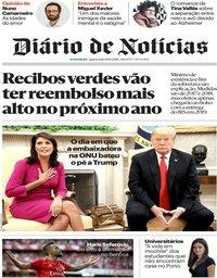 capa Diário de Notícias de 10 outubro 2018
