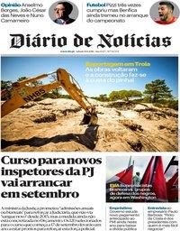 capa Diário de Notícias de 11 agosto 2018
