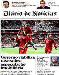 capa Diário de Notícias de 11 setembro 2018