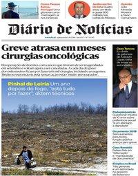 capa Diário de Notícias de 11 outubro 2018