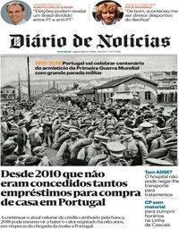 capa Diário de Notícias de 12 setembro 2018