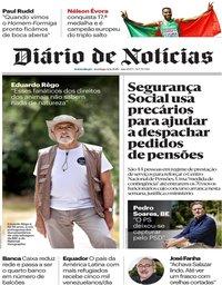 capa Diário de Notícias de 13 agosto 2018