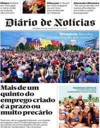 capa Diário de Notícias de 14 agosto 2018