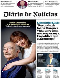 capa Diário de Notícias de 14 setembro 2018