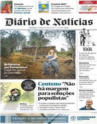 capa Diário de Notícias de 14 outubro 2018