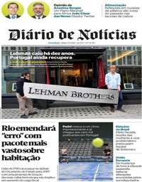 capa Diário de Notícias de 15 setembro 2018