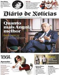 capa Diário de Notícias de 16 setembro 2018