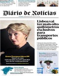 capa Diário de Notícias de 17 setembro 2018
