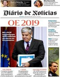 capa Diário de Notícias de 17 outubro 2018