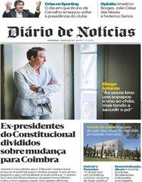 capa Diário de Notícias de 18 agosto 2018