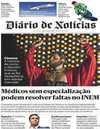 capa Diário de Notícias de 19 julho 2018