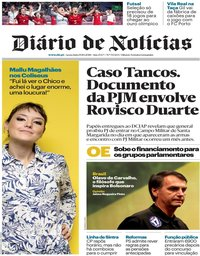 capa Diário de Notícias de 19 outubro 2018