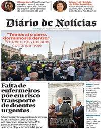 capa Diário de Notícias de 20 setembro 2018