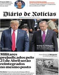 capa Diário de Notícias de 21 agosto 2018