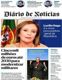 capa Diário de Notícias de 21 setembro 2018