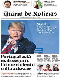 capa Diário de Notícias de 24 julho 2018