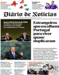 capa Diário de Notícias de 24 setembro 2018