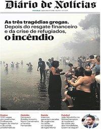 capa Diário de Notícias de 25 julho 2018