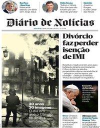 capa Diário de Notícias de 25 agosto 2018