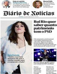 capa Diário de Notícias de 25 setembro 2018