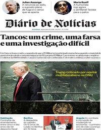 capa Diário de Notícias de 26 setembro 2018
