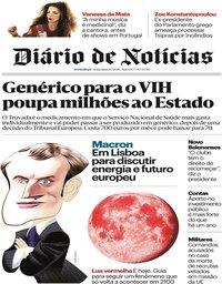 capa Diário de Notícias de 27 julho 2018