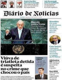 capa Diário de Notícias de 27 setembro 2018