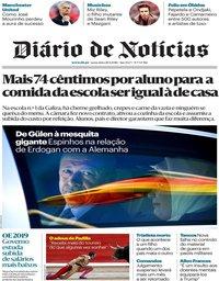 capa Diário de Notícias de 28 setembro 2018