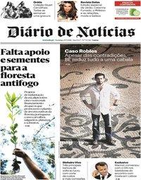 capa Diário de Notícias de 29 julho 2018