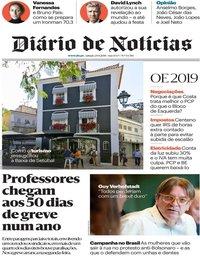 capa Diário de Notícias de 29 setembro 2018