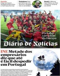 capa Diário de Notícias de 30 julho 2018