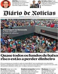 capa Diário de Notícias de 31 agosto 2018
