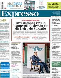 capa Expresso de 21 julho 2018