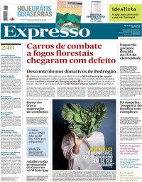 capa Expresso de 28 julho 2018